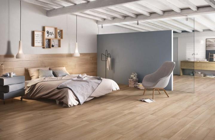 Nieuw warme houtlook op de vloer jos