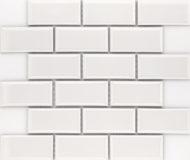 Stucco Plaster Blanco Brick Mozaïek